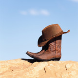 boots and hat outdoor