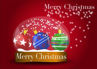 Palle di Natale dentro a bolla vector
