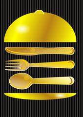 couverts dorés