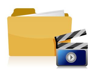 video folder illustration design