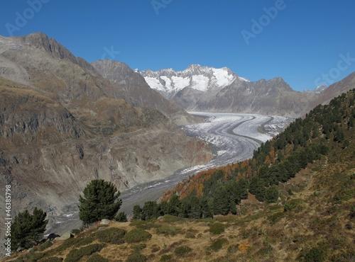 Idyllic Aletsch Area, Swiss Alps