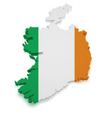 Ireland Map 3d Shape