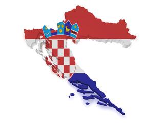 Croatia Map 3d Shape