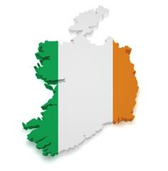 Ireland Map 3d Shape