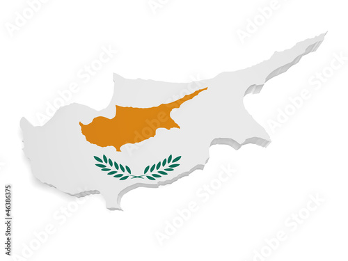 Cyprus Map 3d Shape