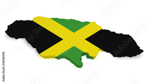 Jamaica Map 3d Shape