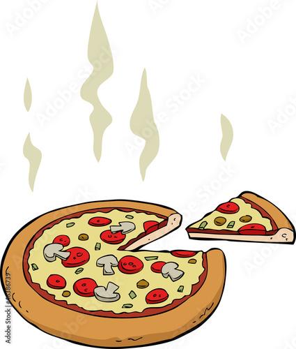 comment dessiner une pizza