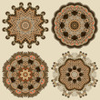 Circle ornament, ornamental round lace collection