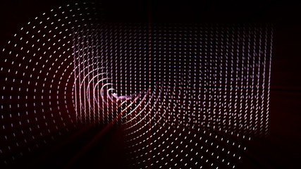 futuristic technology video - objects and lights – loop HD