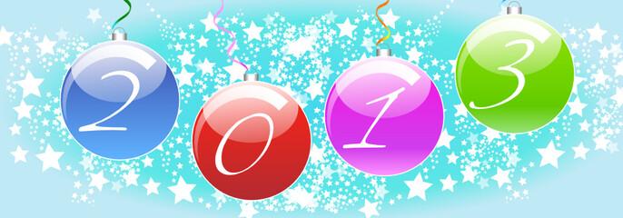 Carte 2013 Boules de Noël