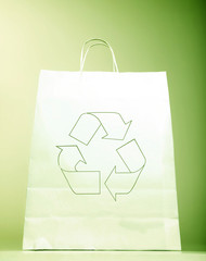 Paper bag with ecology sign