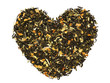 Heart from fruit green tea