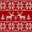 "Red ""sweater with deer"" seamless pattern"