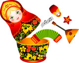 Russian opened tradition matryoshka doll