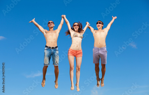 Group Of Friends Having Fun On Summer Beach
