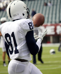 Football player making a catch