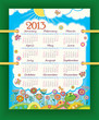 Calendar for 2013. The week starts with Sunday. Sunny day
