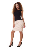 Latino business woman standing. poster