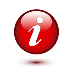 Information icon on red