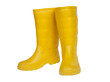 rubber boot yellow color