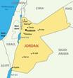 Hashemite Kingdom of Jordan - vector map