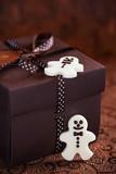 White chocolate christmas candy man
