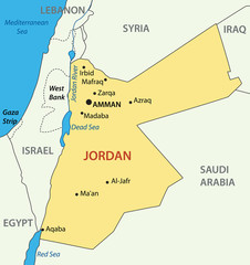 Hashemite Kingdom of Jordan - vector map