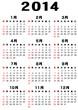 2014年日本語カレンダー. vector file