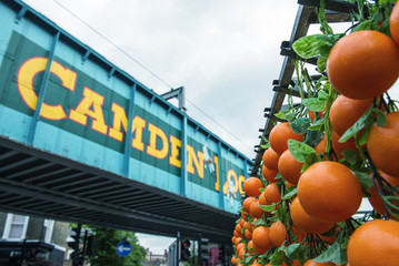 Famous Camden Market in London