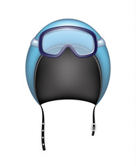 Protective helmet and ski sport goggles