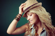 Westerngirl mit Hut