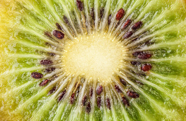 Kiwi fruit for background, closeup