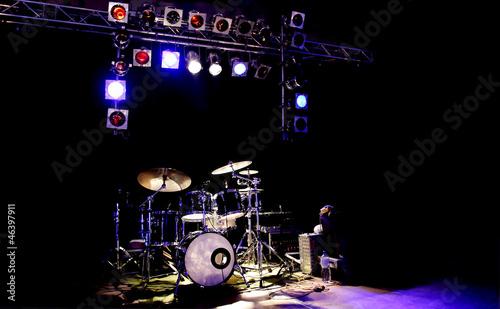 Leinwanddruck Bild Schlagzeug Licht