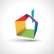 Vector logo abstract house