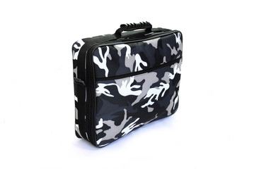 Camouflage (urban) military suitcase for top secret documents
