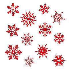 Set Eiskristall Schneeflocke Weihnachten Winter