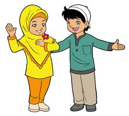 Muslim kids playing
