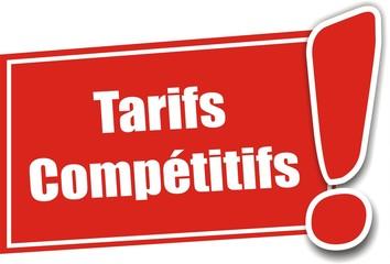 étiquette tarifs compétitifs