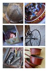 Brocante, antiquité, objet, vieux, marché, collection