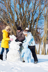 Making snowman