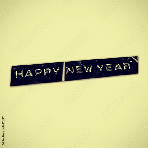happy new year with a retro effect