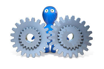 3D Figure with gears