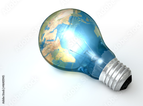 Light Bulb World Globe