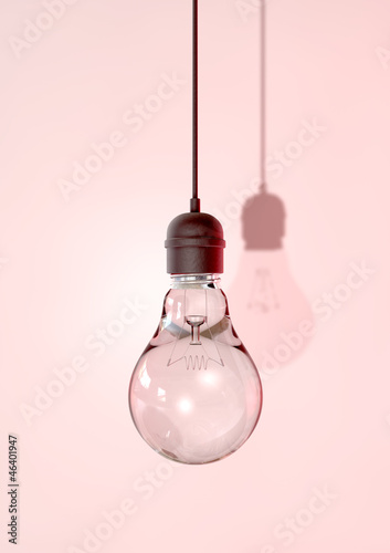canvas print picture Hanging Light Bulb And Fitting