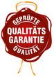 siegel qualitätsgarantie vektor