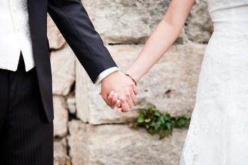 Brautpaar Hände