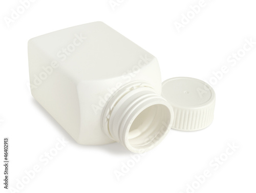 Drug bottle isolated on white background
