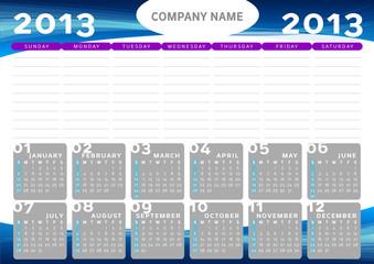 Calendario Planning 2013