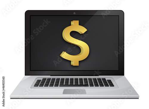 Dollar Sign Laptop