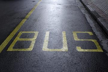 Public bus stop